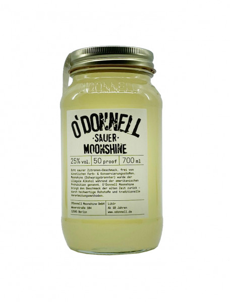 O´Donnell Moonshine Sauer - Sommersorte 2020 - Zitrone 0,7l 25%vol.