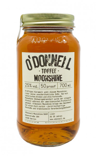 O´Donnell Moonshine Wintersorte Toffee Likör 0,7l 25%vol.