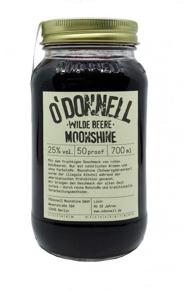 O´Donnell Moonshine Wilde Beere 0,7l 25%vol.