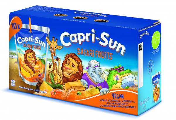 Capri-Sun Safari Fruits, 4 x 10 x 200 ml