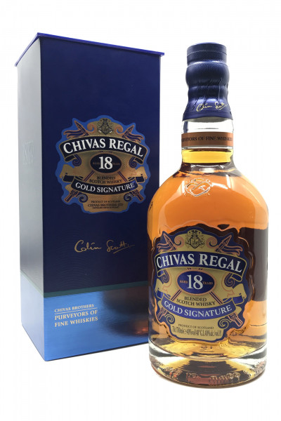 Chivas Regal 18 Jahre Gold Signature - Blended Scotch Whisky - 40% vol. Alk. - 0,7l - front